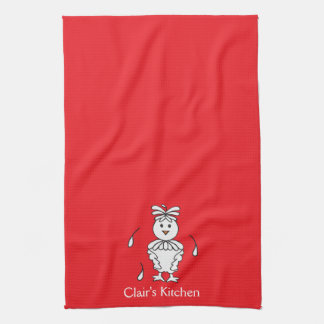 Personalized Red/ Chicken Kitchen Towels