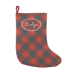 Personalized Red Flannel Small Christmas Stocking