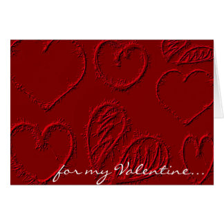 Personalized Red Hearts Valentine's Day Card
