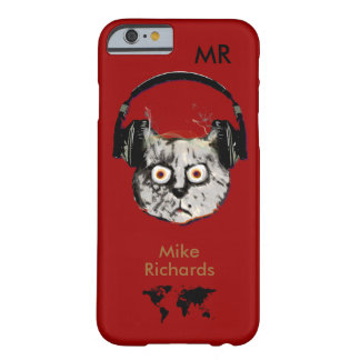 personalized red iPhone 6 with dj cat Barely There iPhone 6 Case
