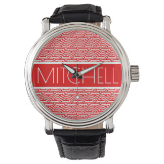 Personalized Red POTP Watch