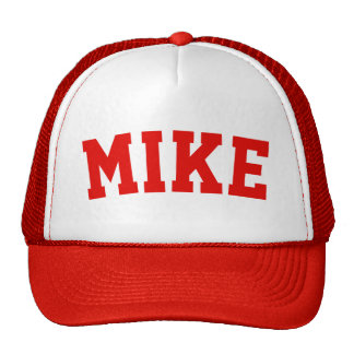 Personalized Red Short Name Cap