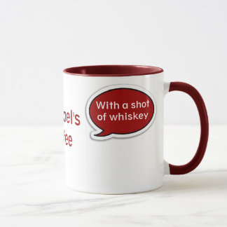 Personalized Red Speech Bubble Mug