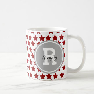 Personalized Red Stars Coffee Mug