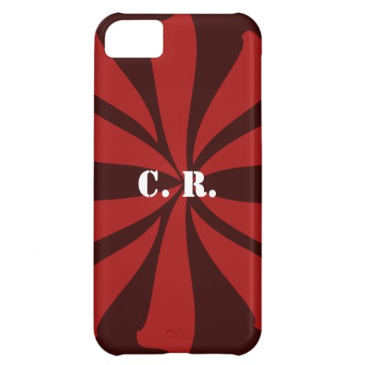 Personalized Red Swirl iPhone 5C Cover