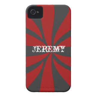 Personalized Red Swirl Case-Mate iPhone 4 Cases