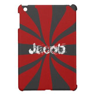 Personalized Red Swirl iPad Mini Case