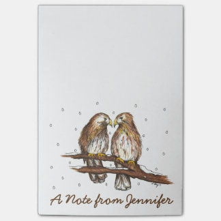 Personalized Red Tailed Hawk Bird Lovebird Post It Post-it Notes