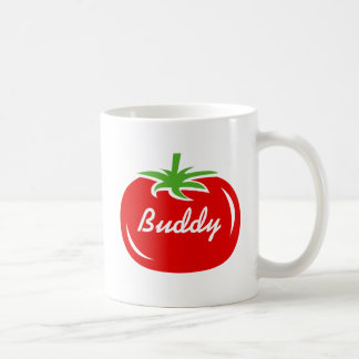 Personalized red tomato coffee mug gift idea