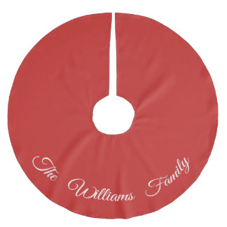 Personalized Red Tree Skirt
