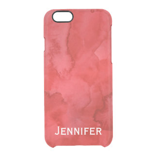 Personalized Red Watercolor iPhone 6/6s Case