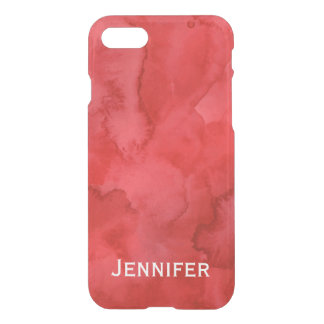 Personalized Red Watercolor iPhone 7 Case