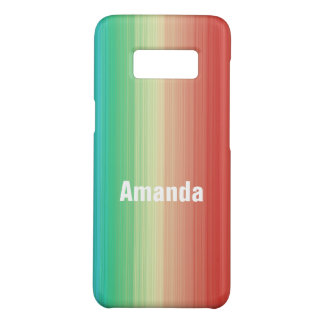 Personalized Red Yellow Green Blue Stripes Case-Mate Samsung Galaxy S8 Case