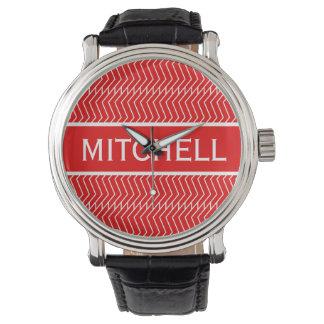 Personalized Red ZChain Wrist Watch