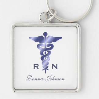 Personalized Registered Nurse Keychain