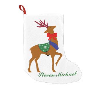 Personalized Reindeer Christmas Stocking Small Christmas Stocking