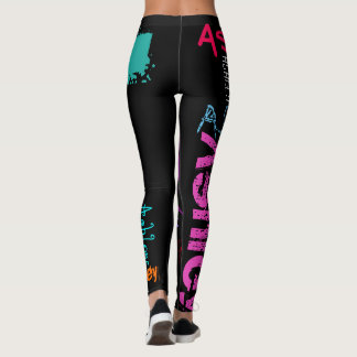 Personalized Repeating name 6 letters Leggings