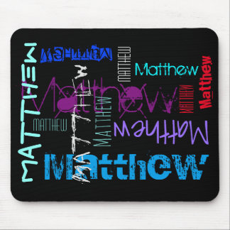 Personalized repeating name 7 letters Mousepad