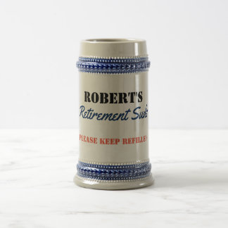 Personalized Retirement Suds - Beer Stein