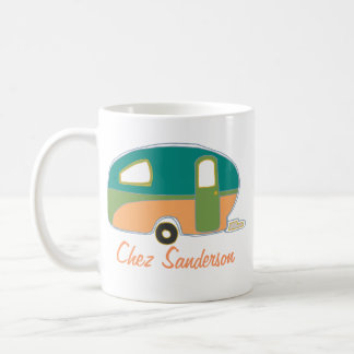 Personalized Retro Caravan Owners Mugs