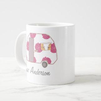 Personalized Retro Design Caravan Owner Jumbo Mugs