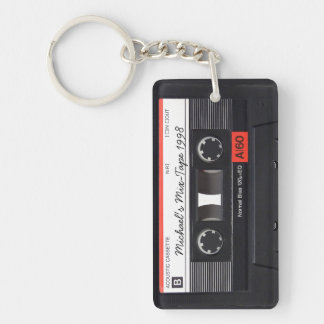 Personalized Retro Mix-tape key-chain Key Ring
