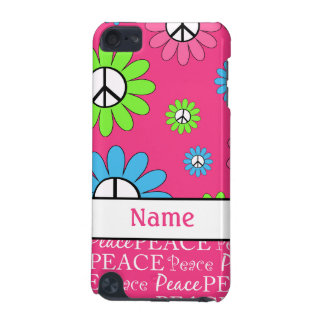 Personalized Retro Peace Sign iPod Touch Case
