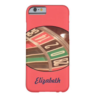Personalized Retro Roulette Wheel Barely There iPhone 6 Case