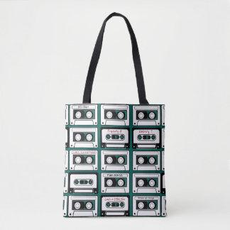 Personalized Retro Tape Cassette Tote Bag