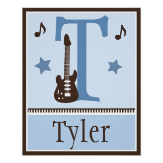Personalized Rock and Roll Guitar Music Poster