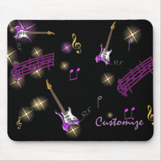 Personalized Rock Star Music Background Mouse Pad