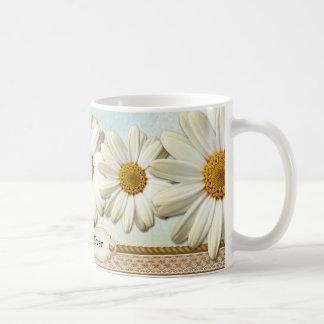 Personalized Romantic Floral Lace Mug