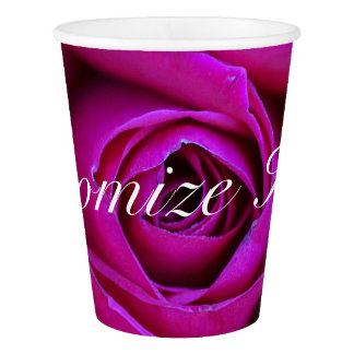 Personalized Rose Paper Cup
