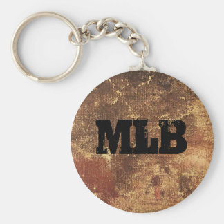Personalized Rough and Weathered Grunge Texture Basic Round Button Key Ring