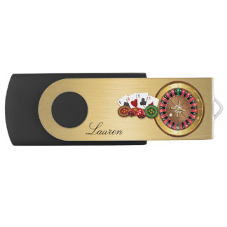 personalized roulette wheel usb flash drive swivel USB 3.0 flash drive