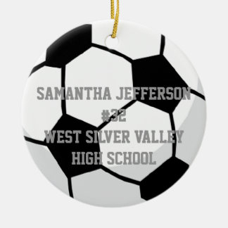 Personalized Round Soccer Ball Sports Ornament