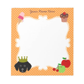 Personalized Royal Black Lab Puppy Notepad