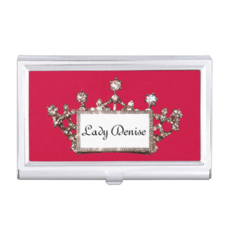 Personalized Royal Tiara Business Card Holder