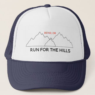 Personalized Run for the Hills trucker hat