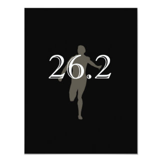 "Personalized Runner Marathon Keepsake 26.2 4.25"" X 5.5"" Invitation Card"