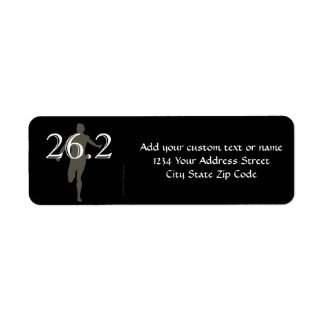 Personalized Runner Marathon Keepsake 26.2 Return Address Label