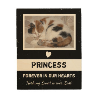Personalized Rustic Pet Memorial Wood Print