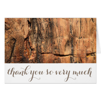 Personalized Rustic Thank You Card