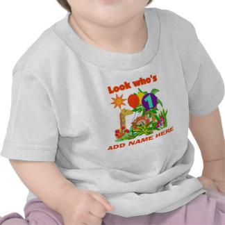 Personalized Safari 1st Birthday Tshirt