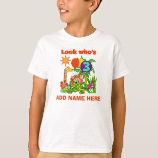Personalized Safari 3rd Birthday Tshirt