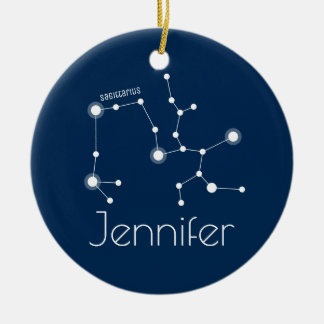 Personalized Sagittarius Constellation Ornament