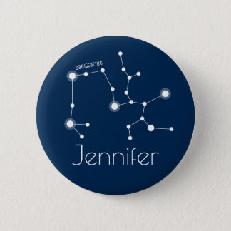 Personalized Sagittarius Zodiac Constellation 6 Cm Round Badge