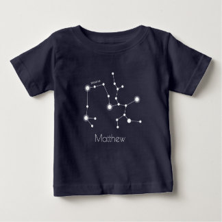 Personalized Sagittarius Zodiac Constellation Baby T-Shirt
