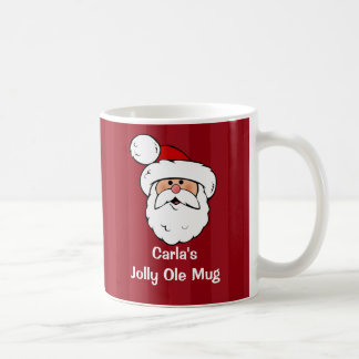 Personalized Santa Claus Basic White Mug