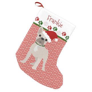 Personalized Santa French Bulldog Small Christmas Stocking